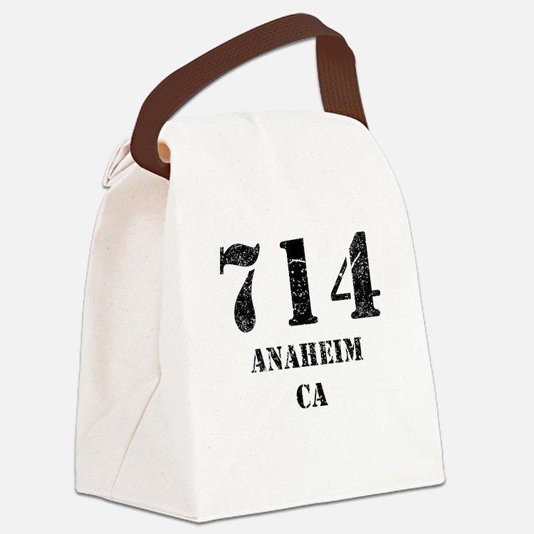 714 Anaheim CA Canvas Lunch Bag