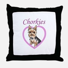 CHORKIE LOVE Throw Pillow