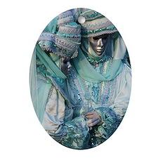 Fancy Dress Couple Ornament (Oval)