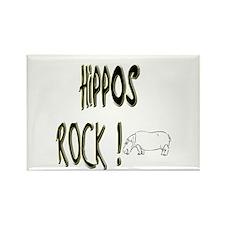 Hippos Rock ! Rectangle Magnet