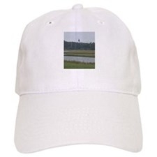 Asateague island lighthouse across the marsh Baseball Cap