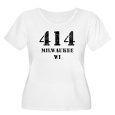 414 Milwaukee WI Plus Size T-Shirt