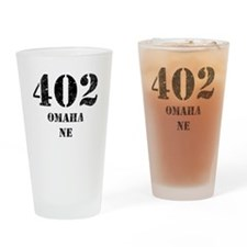 402 Omaha NE Drinking Glass