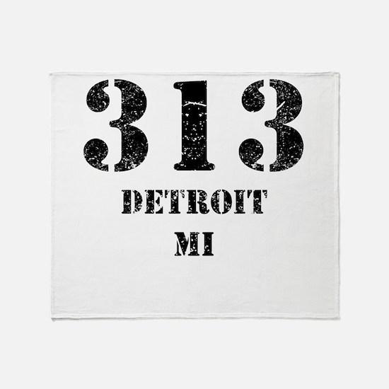 313 Detroit MI Throw Blanket