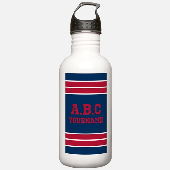 Navy and Crimson Jerse Water Bottle