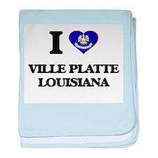 I love Ville Platte Louisiana baby blanket