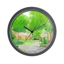 Summer at Home Wall Clock