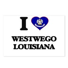 I love Westwego Louisiana Postcards (Package of 8)
