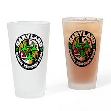 Maryland Zombie Response Team Green Drinking Glass