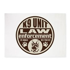 K9 In Dogs We Trust Dark Brown 5'x7'Area Rug