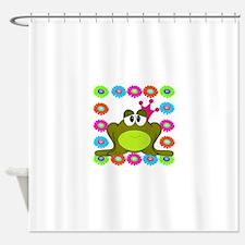 Frog Princess Flowers Shower Curtain