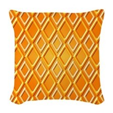 Orange Diamonds Pattern by Xennifer Woven Throw Pi
