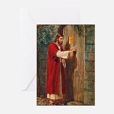 Jesus Knocks On The Door Greeting Cards
