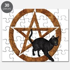 Gold Pentacle - Black Cat Puzzle