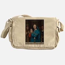 The Virgin Adoring the Host Messenger Bag