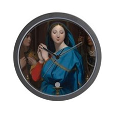 The Virgin Adoring the Host Wall Clock
