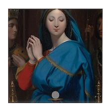 The Virgin Adoring the Host Tile Coaster