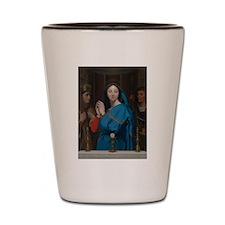 The Virgin Adoring the Host Shot Glass