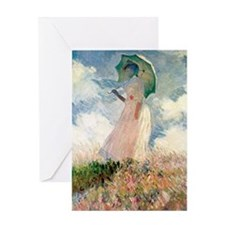 Monet Woman with a Parasol Greeting Card