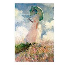 Monet Woman with a Paraso Postcards (Package of 8)
