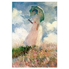 Monet Woman with a Parasol Framed Print