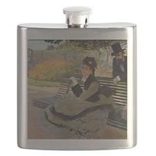 Monet Camille Monet on a Garden Bench Flask