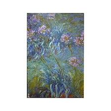 Monet Agapanthus Rectangle Magnet