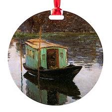 Monet The Studio Boat Ornament