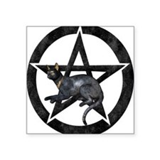 Bast Black Pentacle Sticker