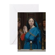 The Virgin Adoring the Host Greeting Cards