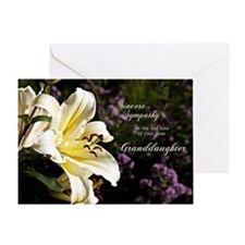 Sympathy card on the death of a granddaughter. Gre
