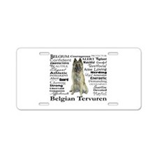 Belgian Tervuren Traits Aluminum License Plate