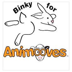Binky for Animooves black Poster