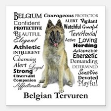 "Belgian Tervuren Traits Square Car Magnet 3"" x 3"""