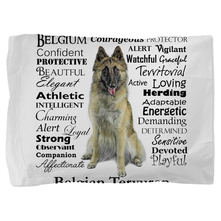 Belgian Tervuren Traits Pillow Sham