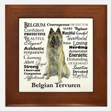 Belgian Tervuren Traits Framed Tile