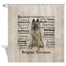 Belgian Tervuren Traits Shower Curtain