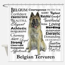 Belgian Tervuren Traits Shower Curtain