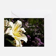 Sympathy card on the death of a father. Greeting C
