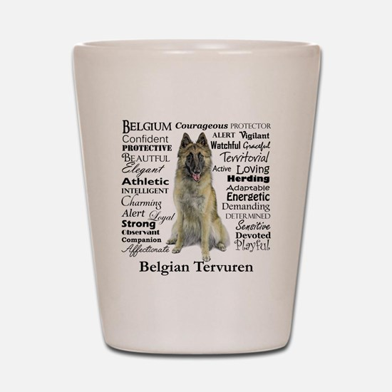 Belgian Tervuren Traits Shot Glass