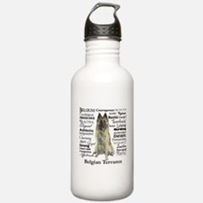 Belgian Tervuren Traits Water Bottle