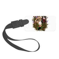 Summer Solstice Wicca Pentacle Luggage Tag