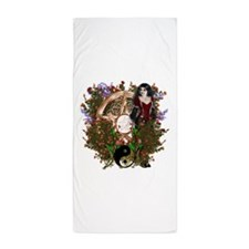 Summer Solstice Wicca Pentacle Beach Towel