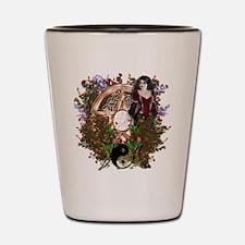 Summer Solstice Wicca Pentacle Shot Glass