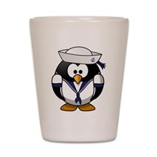 Sailor Penguin Shot Glass