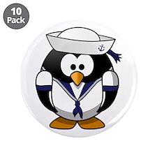 """Sailor Penguin 3.5"""" Button (10 pack)"""