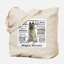 Belgian Tervuren Traits Tote Bag
