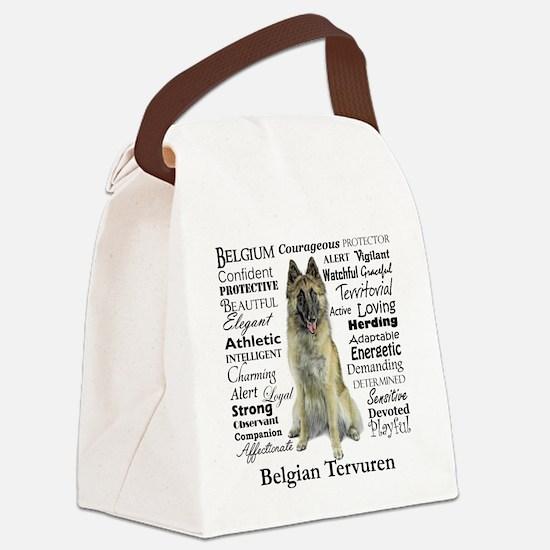 Belgian Tervuren Traits Canvas Lunch Bag