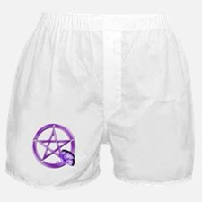 Purple Pentacle - Butterfly 3 Boxer Shorts