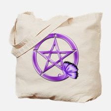 Purple Pentacle - Butterfly 3 Tote Bag